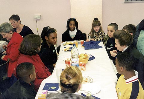 Young carers of Bolton meet Princess Anne